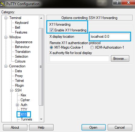 putty-x11-forwarding